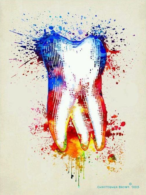 Красочный зуб