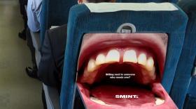 Реклама леденцов в самолете