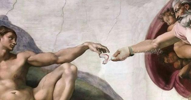 Микеланджело - Передача слепка зубов