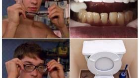 Очки и определение цвета зубов
