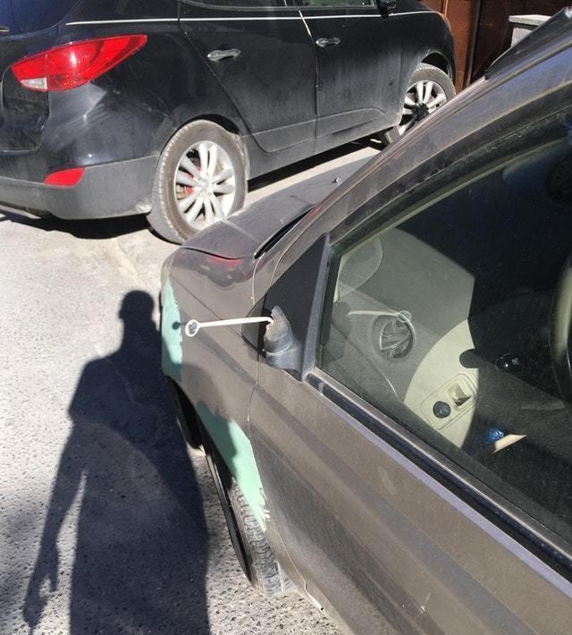Автомобильное зеркало стоматолога