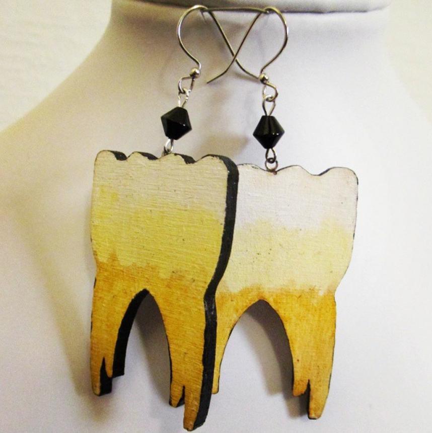 Серьги стоматолога
