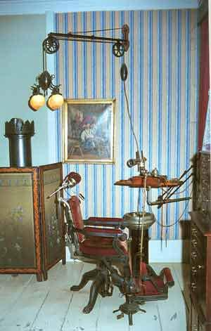 Кабинет стоматолога начала XX века. Дания, 1900г.