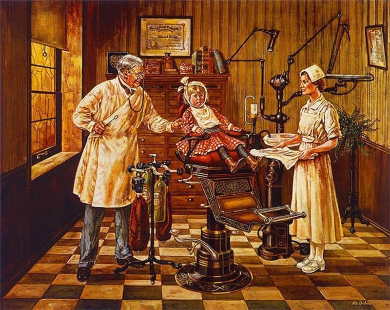 Стоматологический кабинет начала 20 века