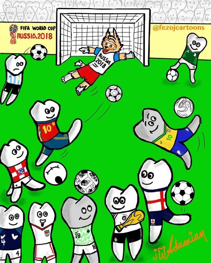 Зубной футбол