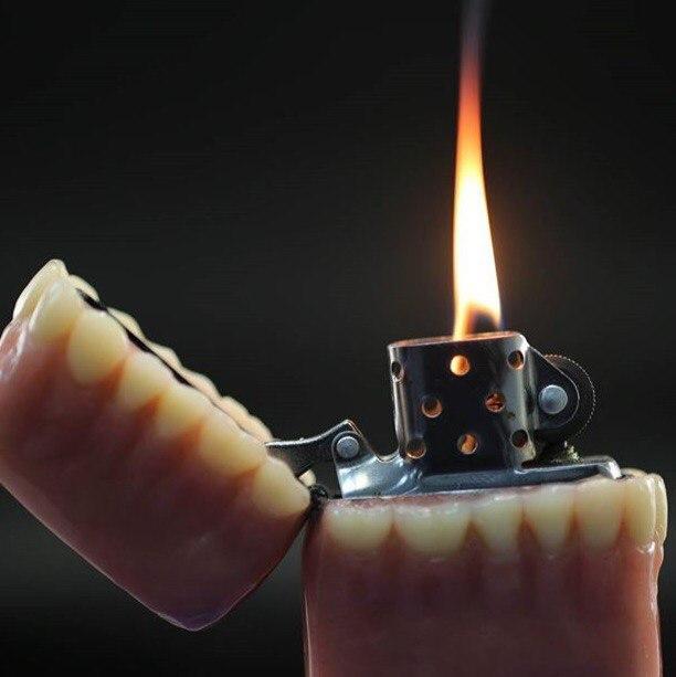 Зубная зажигалка