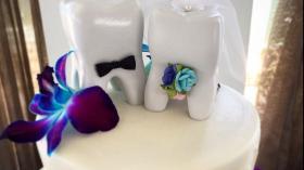 Торт на свадьбу стоматологов