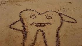 Зуб из песка 9