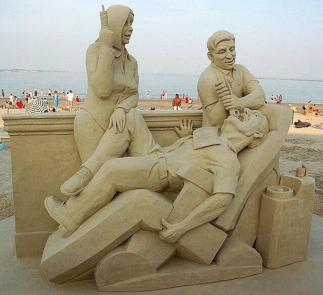 Песочный арт - на приеме у стоматолога