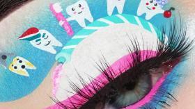 Макияж глаз стоматолога