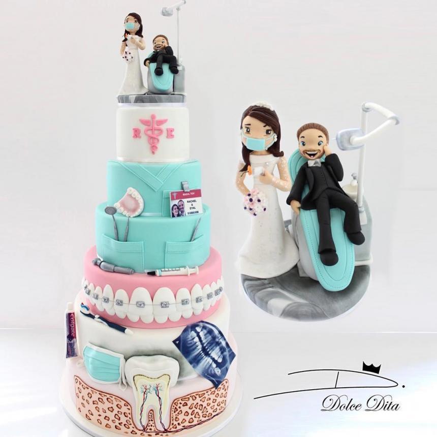 Свадебный торт стоматологов 2