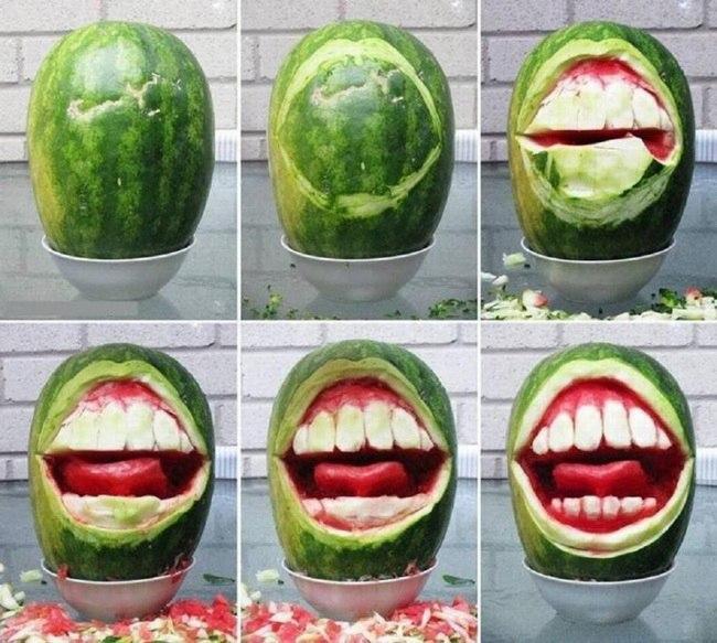 Арбузная полость рта