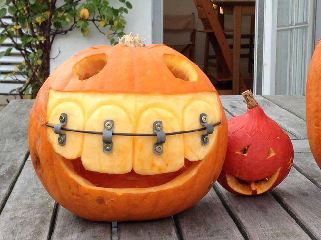 Тыква после посещения ортодонта