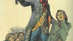 XIX в. Филиппо Палиции. Карикатура. Акварель