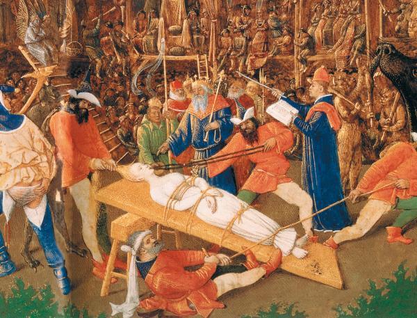XV в., Франция. Жан Фуке «Мученичество Св. Аполлонии»