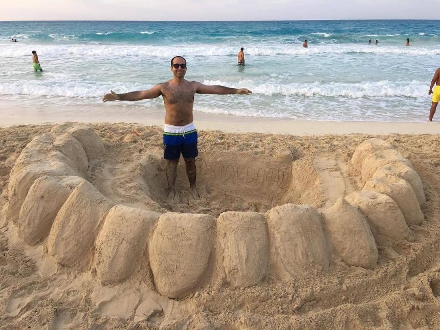 Зуб из песка 14
