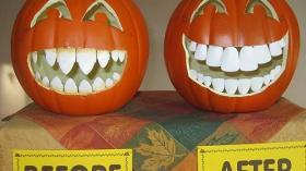 Тыква после посещения стоматолога