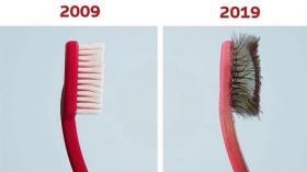 Зубная щетка спустя 10 лет