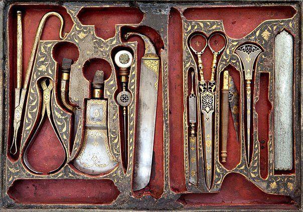 Набор хирургических инструментов, Иран, XIX век