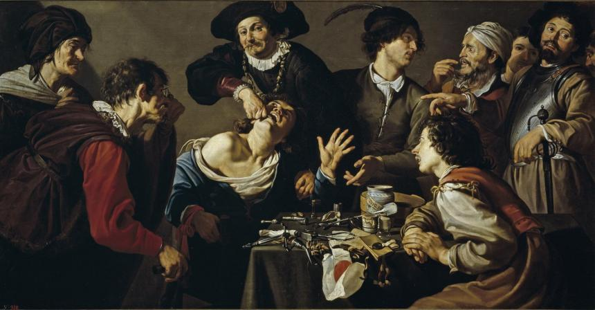 Удаление зуба (Теодоор Ромбаутс, 1620г.)