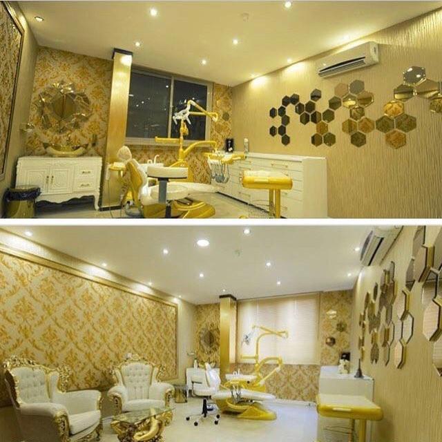Золотой дизайн клиники