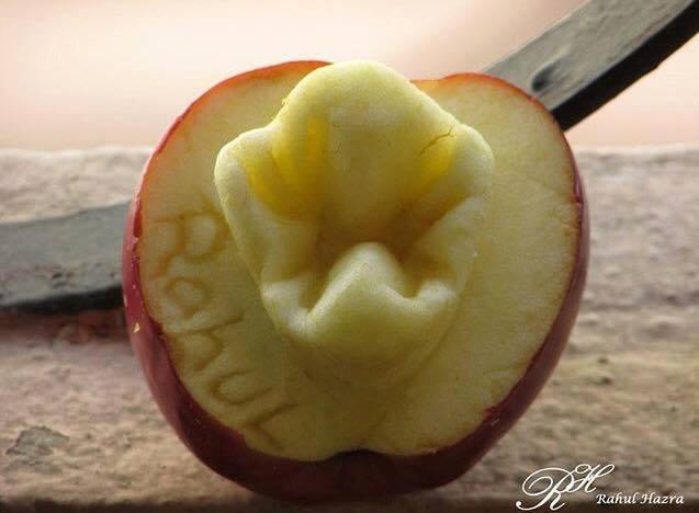 Зуб из яблока 2