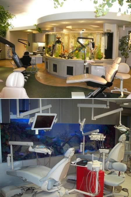 Стоматологический кабинет с аквариумом