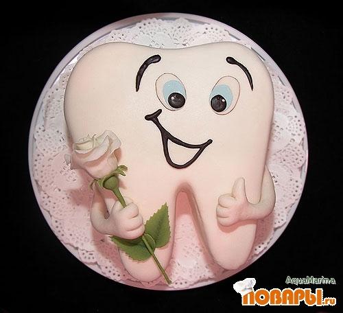 первый зубик фото торт