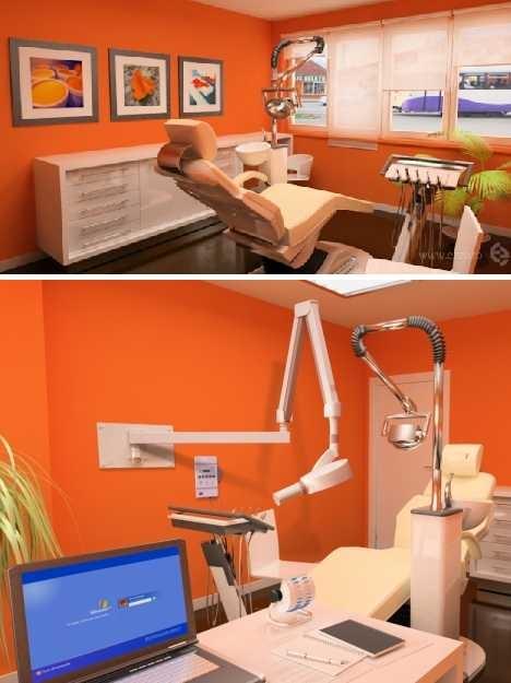Оранжевый стоматологический кабинет из Румынии