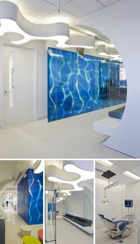 Стоматологическая клиника в стиле подводного мира.