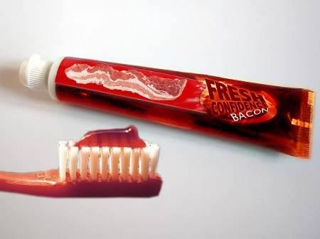 Зубная паста со вкусом бекона